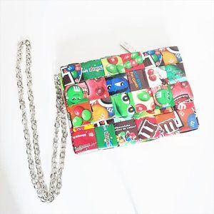 Mitz M&M Wrappers crossbody purse.